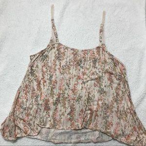LC Lauren Conrad Tops - Lauren Conrad XL light pink floral tank top